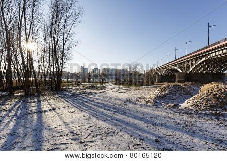 Areas Near The Vistula River By The Bridge