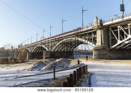 Bridge Of Poniatowski In Warsaw