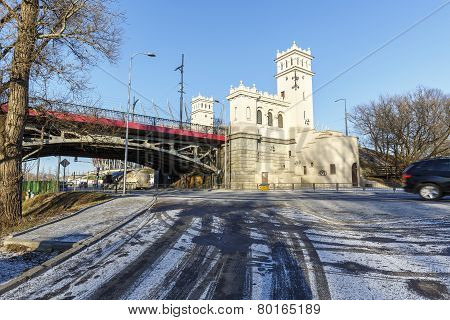 Tower And A Staircase To The Bridge