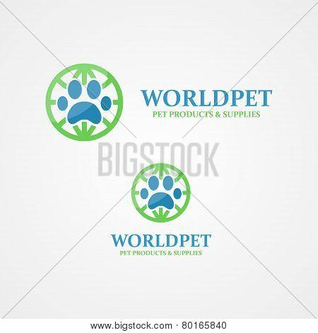 Vector logo footprint of an animal