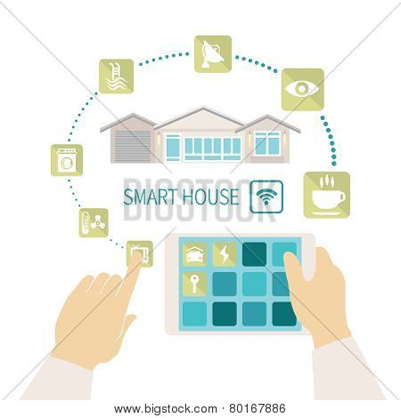 Vector Smart House Concept.