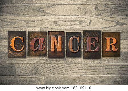 Cancer Concept Wooden Letterpress Type