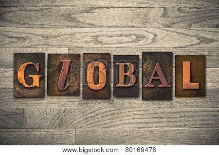 Global Concept Wooden Letterpress Type