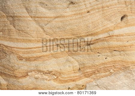Liesegang rings in Sandstone