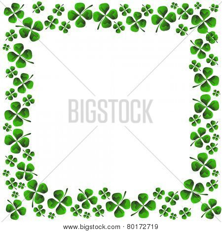 An image of a four leaf clover pattern.