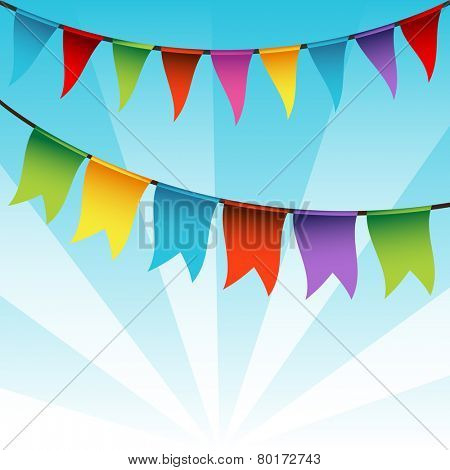 An image of a string of bunting flags.