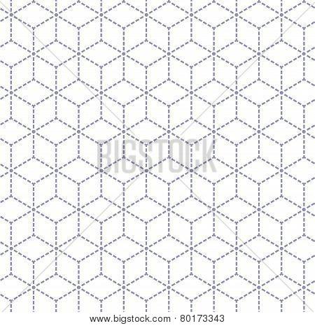 Gray white minimal cubes seamless pattern