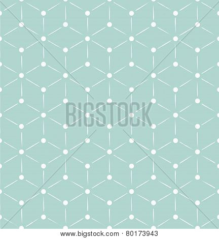 Blue and white retro cubes pattern