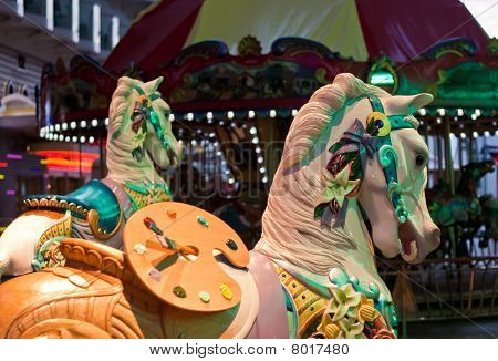 Carousel Horses And Merry-go-round