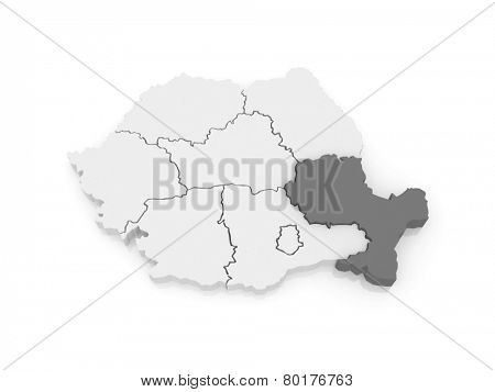 Southeast Region Development Romania. 3d