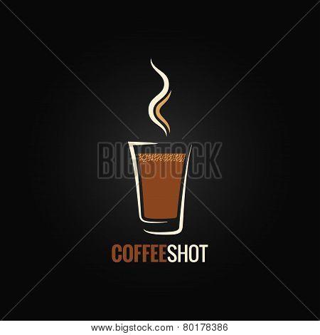 coffee shot glass design background