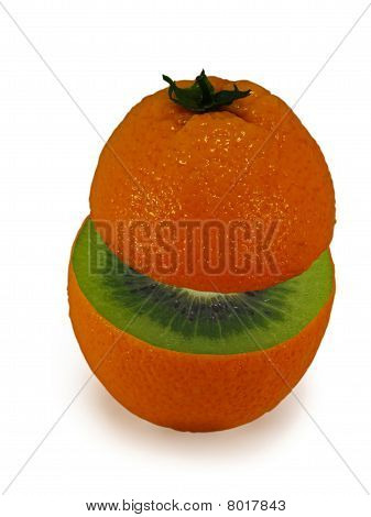 Ripe Oranges Inside As The Kiwi