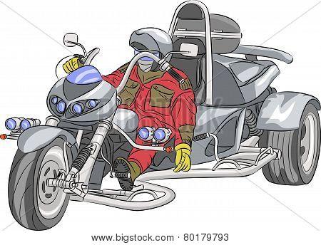 Vector Motorcyclist.