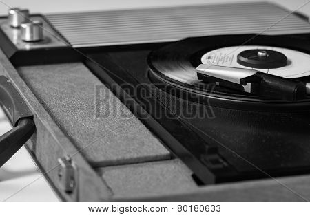 Record Player B&W