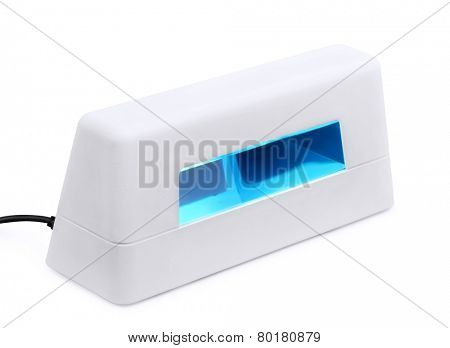 Manicure UV gel curing lamp  isolated on white
