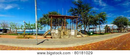 san cristobal town esplanade galapagos