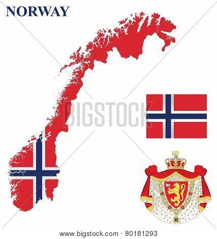 Kingdom of Norway Flag