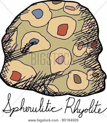 Isolated Spherulitic Rhyolite Cartoon