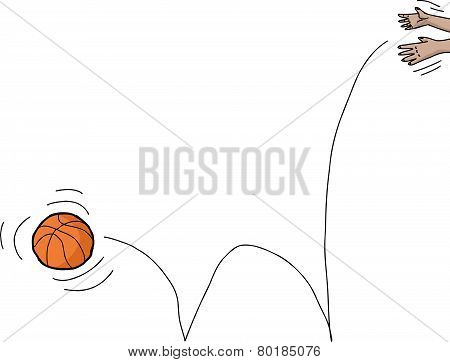 Hands Dropping Basketball