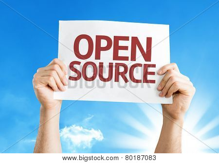 Open Source card with a beautiful day