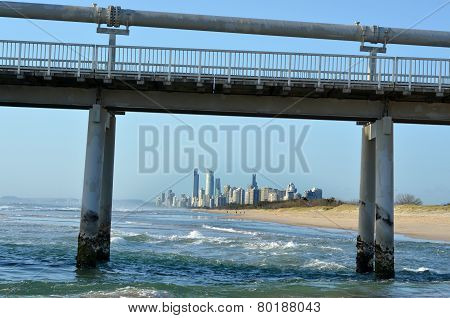 Gold Coast Pier At The Spit -queensland Australia