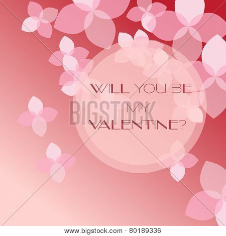 Cute and romantic card with flowers