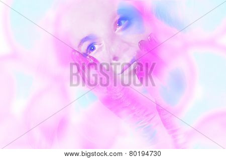 Portrait of a woman dreaming