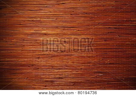 Bamboo brown straw mat as texture background.