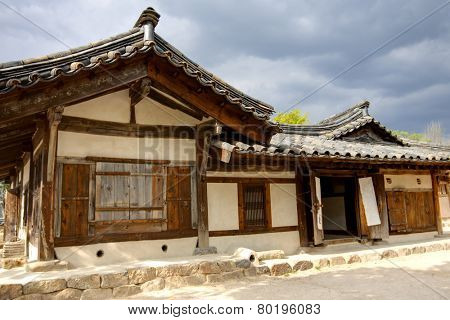 Traditional korean wooden house