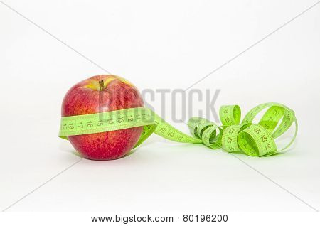 Red Apple Wrapped In Centimeter
