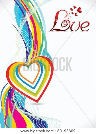 Abstract Colorful Love Wave Background