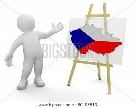 Man and Czech map (clipping path included)