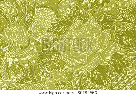 Traditional Batik Sarong Pattern.
