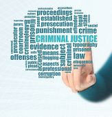 picture of flogging  - Word cloud for Criminal justice on board - JPG