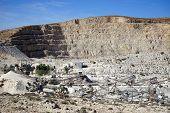 stock photo of crusher  - Quarry near Drejat village in south Israel - JPG