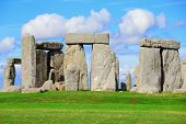 image of stonehenge  - Stonehenge an ancient prehistoric stone monument near Salisbury Wiltshire UK - JPG