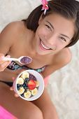 picture of hawaiian girl  - Acai bowl  - JPG