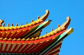 picture of taoism  - China temple and many people prayed the god in the place - JPG