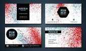 image of wet  - Set of business cards with watercolor background - JPG