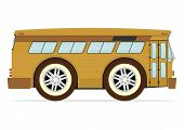 foto of motor-bus  - Funny old American bus - JPG