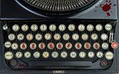 pic of terrorism  - a old black typewriter with writing terrorism - JPG