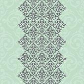 stock photo of damask  - Vector seamless turquoise frame - JPG