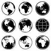 picture of planet earth  - Set of earth planet globe icons for web and app - JPG