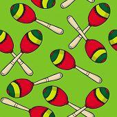 picture of maracas  - maracas seamless pattern - JPG