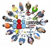image of idealistic  - Diversity People Leadership Management Looking Up Concept - JPG