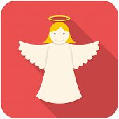 picture of christmas angel  - Christmas angel icon  - JPG
