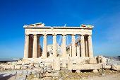 picture of parthenon  - Parthenon on the Acropolis in Athens - JPG