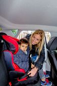 foto of soliciting  - boy in a car seat - JPG