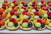 stock photo of nibbling  - finger food dessert and fruits cocktail art design - JPG