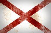 picture of alabama  - Grunge of Alabama flag on crumpled paper background - JPG